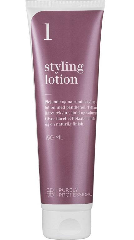 Styling lotion fra Purely Professional. Godt styling produkt til krøller.